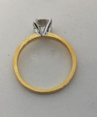 Anillo de diamantes de 1 quilate