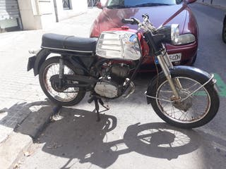 moto antigua dkw funciona bien