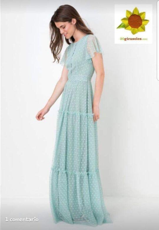 múltiples colores atarse en valor fabuloso Vestido largo fiesta (plumeti) de segunda mano por 50 € en ...