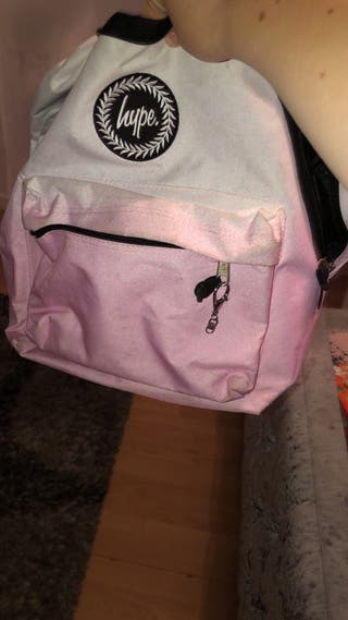 Pink and white hype bag