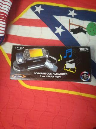 Soporte con altavoces PSP