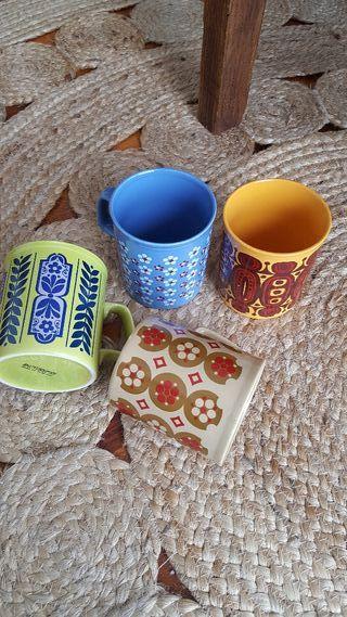 Tazas de ceramica antiguas