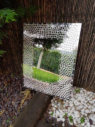 Espejo de pared mosaico 40x50 cm