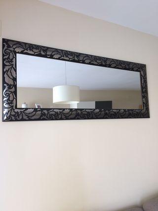 Espejo negro y plata