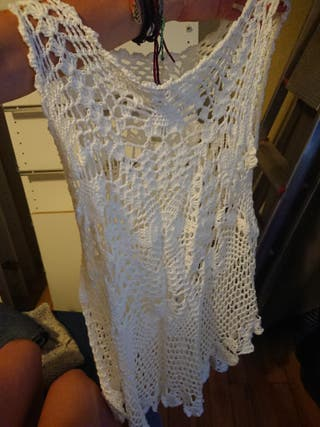 vestido largo blanco de playa