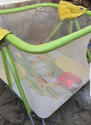 parque doble plegable bebes