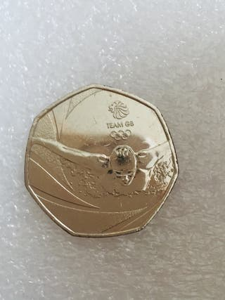50p coin team GB swimmer 2016.