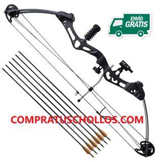 Arco de poleas para adultos con accesorios flechas