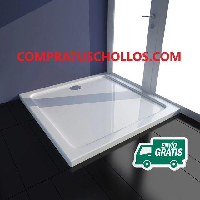 Plato de ducha rectangular de ABS, 80 x 110 cm