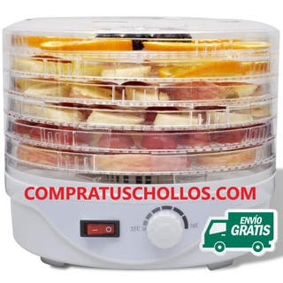 Deshidratador de alimentos con 6 bandejas apilable