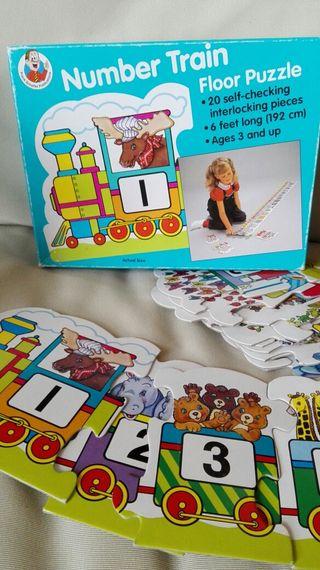 Puzzle tren de números, 20 piezas grandes