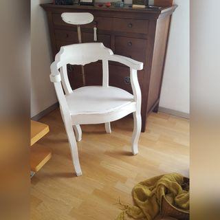 sillón de barbero antiguo