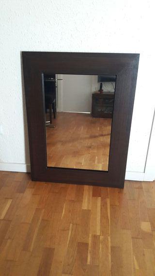 Espejo grande wengue recibidor salon