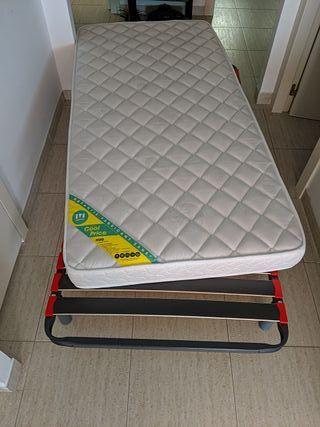 somier de láminas y colchón 190x90