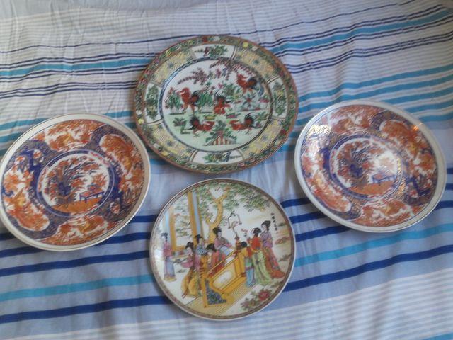 Antiguos platos de Cerámica China y Japonesa