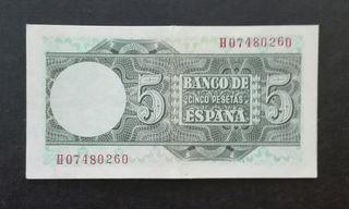 billete de 5 pesetas 1948