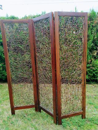 biombo bambú i teca