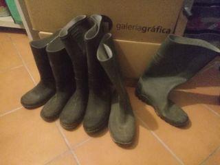 lote 3-pares botas agua