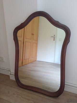 Espejo rústico