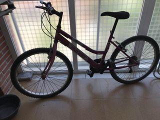 Bicicleta Mountain Bike 24 Rosa