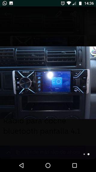 Radio para coche bluetooth pantalla 4.1 AM/FM RDS