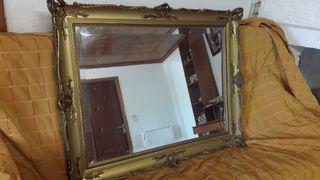 espejo dorado precioso perfecto estado
