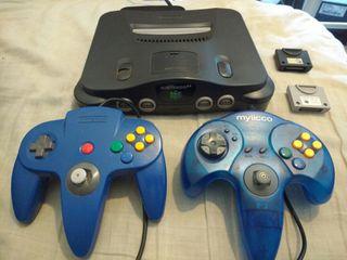 Nintendo 64 , 2 mandos , 2 memory pack y 27 juegos