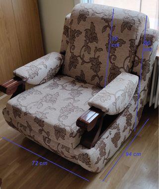 Pack dos sofas madera antigua tapizados