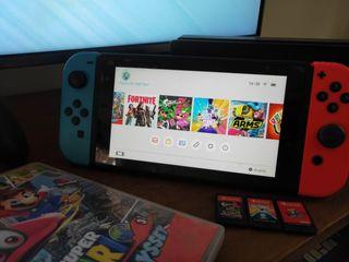 Nintendo Switch neon/azul