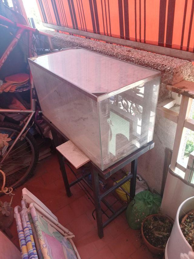 acuario 60-80 L, terrario con soporte de metal
