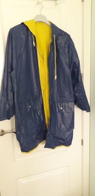 Chubasquero reversible azul/amarillo