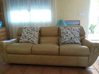 Sofá 3 plazas y 2 sillones beige