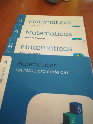 libros de matemáticas 4 de primaria