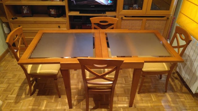 Conjunto mesa comedor y 4 sillas en Madrid, Batán. de ...