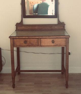 Mueble tocador antiguo auténtico