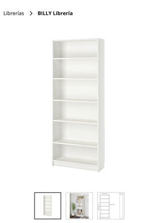 3 Estanterías IKEA Billy blanca