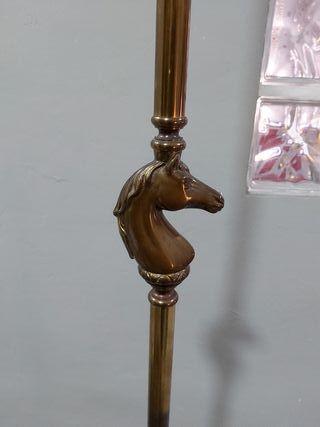 lampara de bronce de pie
