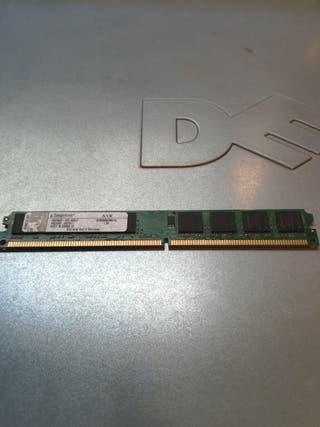 Memoria RAM DDR2 1GB Kingston perfil bajo
