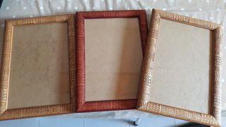 marcos de madera cenefa africana