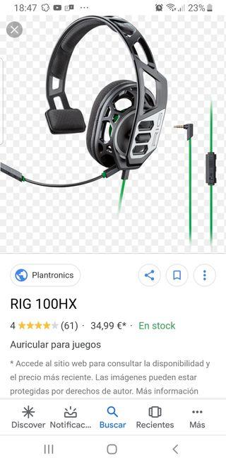 Auriculares plantronic 100HX