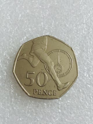 50p coin sir roger bannister 4 minute mile 2004.