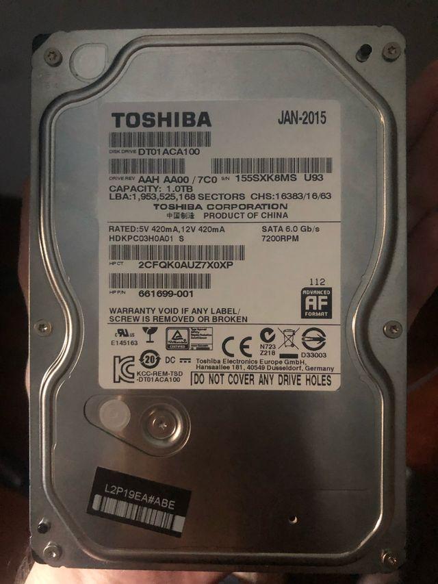 HDD 1TB Disco duró Toshiba