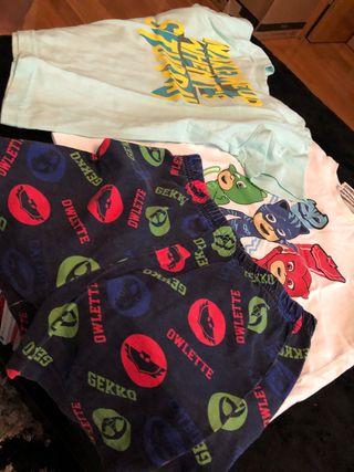 Pack camisetas/pijama/pantalón 2-3 años