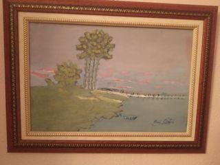 cuadro paisaje antiguo