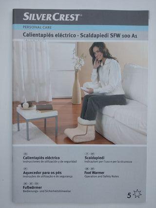 Calientapiés eléctrico SilverCrest NUEVO SIN USAR