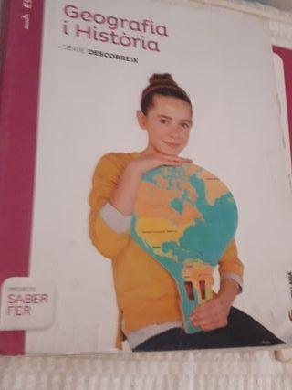 libro geografía e historia 1 de ESO Santillana