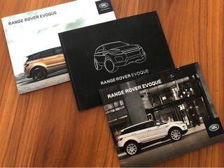 Conjunto de 3 catálogos Land Rover Evoque