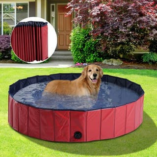 Piscina para Perros Mascotas Rojo PVC 140x30cm He