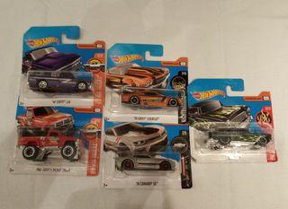 Lote 5 Hot wheels
