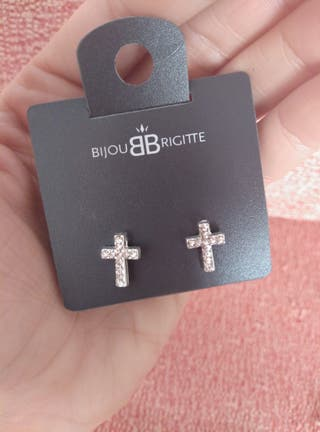 Pendientes cruces brillantes